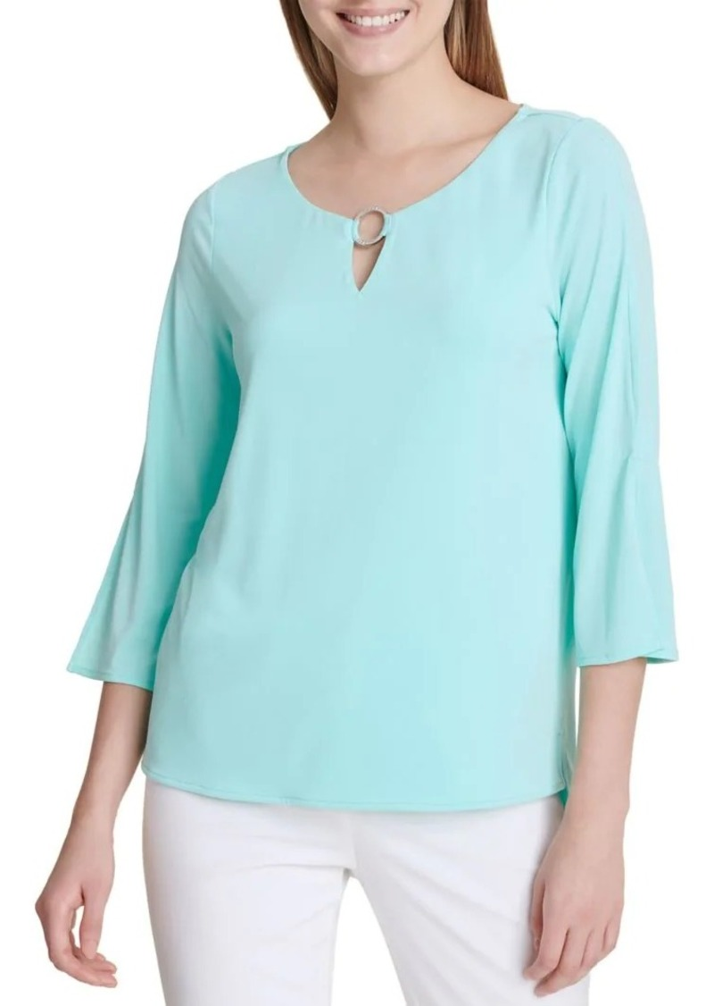 Calvin Klein Three-Quarter Sleeve Blouse