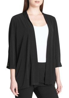 Calvin Klein Three-Quarter-Sleeve Draped Cardigan