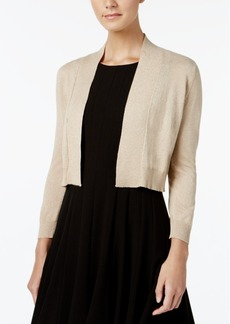 Calvin Klein Three-Quarter-Sleeve Glitter Shrug Cardigan
