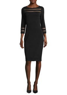 Calvin Klein Three-Quarter Sweater Dress