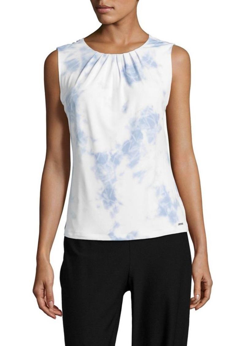 fc5b6ebe1d8b07 Calvin Klein Calvin Klein Tie-Dye-Printed Sleeveless Top