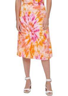 Calvin Klein Tie-Dyed Pleated Skirt