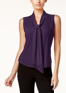Calvin Klein Tie-Front Blouse