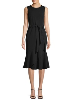 Calvin Klein Tie-Front Knee-Length Dress