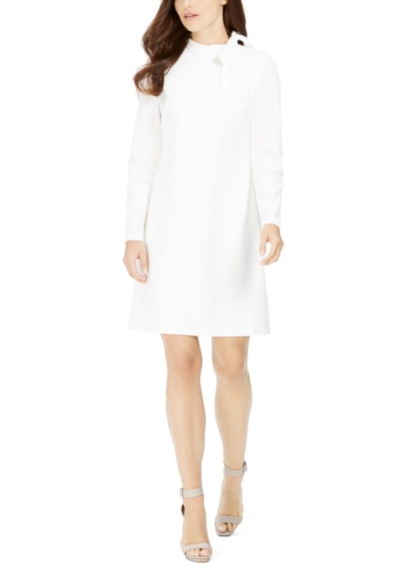Calvin Klein Tie-Neck Scuba Crepe Dress