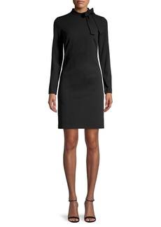 Calvin Klein Tie-Neck Shift Dress