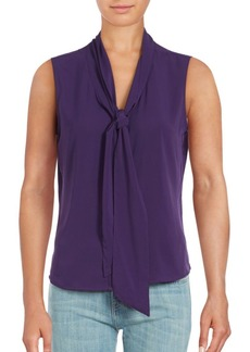 Calvin Klein Tie Neck Sleeveless Top