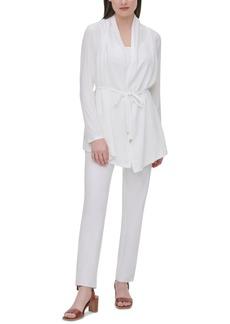 Calvin Klein Tie-Waist Knit Cardigan