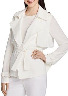 Calvin Klein Tie-Waist Short Jacket