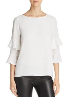Calvin Klein Tiered Ruffle Top