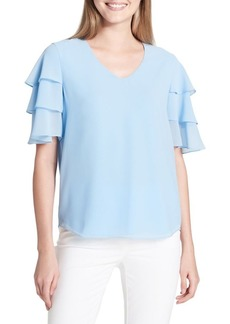 Calvin Klein Tiered-Sleeve Blouse