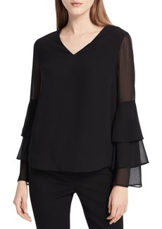 Calvin Klein Tiered-Sleeve Top