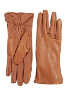 Calvin Klein Tonal Leather Back Gloves