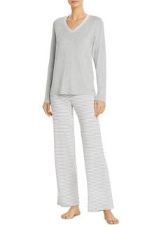Calvin Klein Top & Striped Bottoms Pajama Set