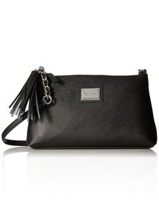 Calvin Klein Top Zip Tassel Saffiano Leather Crossbody