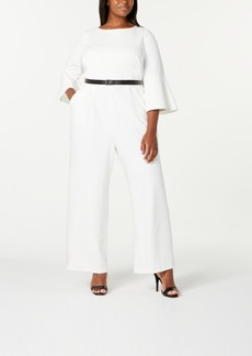 Calvin Klein Trendy Plus Size Bell-Sleeve Jumpsuit
