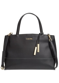 Calvin Klein Triple Compartment Premium Leather Satchel