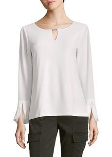 Calvin Klein Triple Flare Sleeve Blouse