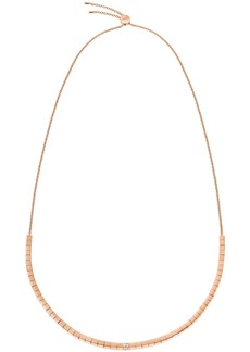 Calvin Klein Tune Pvd Stainless Steel and White Swarovski Crystal Adjustable Necklace