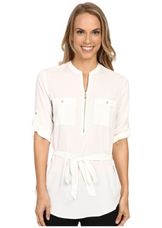 Calvin Klein Tunic Blouse with Belt