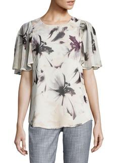 Calvin Klein Tunic Floral Blouse