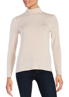 CALVIN KLEIN Turtleneck Jersey Knit Top