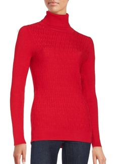 Calvin Klein Turtleneck Long Sleeve Top
