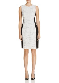 Calvin Klein Tweed Jacquard Sheath Dress