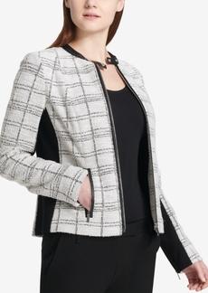 Calvin Klein Tweed Moto Jacket