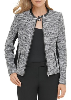 Calvin Klein Tweed Moto Jacket