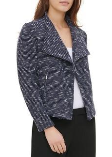 Calvin Klein Tweed Open Front Jacket