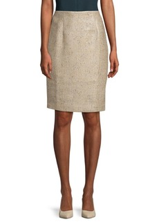 Calvin Klein Tweed Straight Skirt