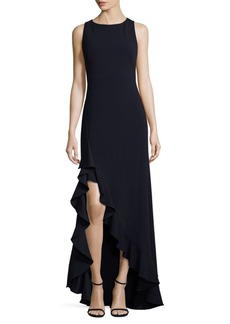 Calvin Klein Twilight Sleeveless Ruffled Gown