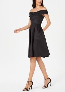Calvin Klein Twisted Off-The-Shoulder A-Line Dress