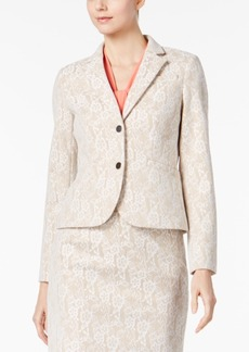 Calvin Klein Two-Button Lace Blazer