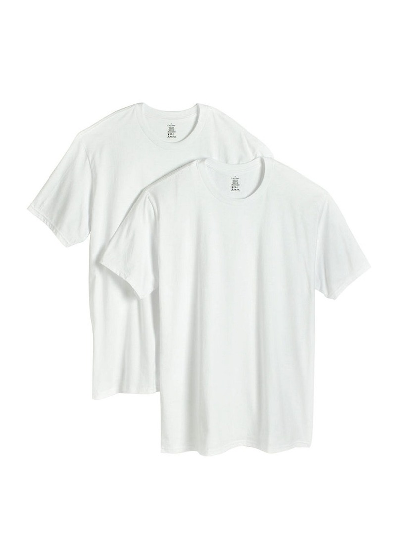 CALVIN KLEIN Big and Tall Two-Pack Cotton Crewneck T-Shirts