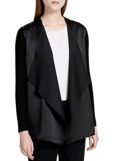 Calvin Klein Two-Tone Open-Front Jacket