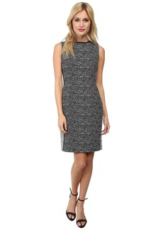 Calvin Klein Two-Tone Sheath Dress w/ Piping