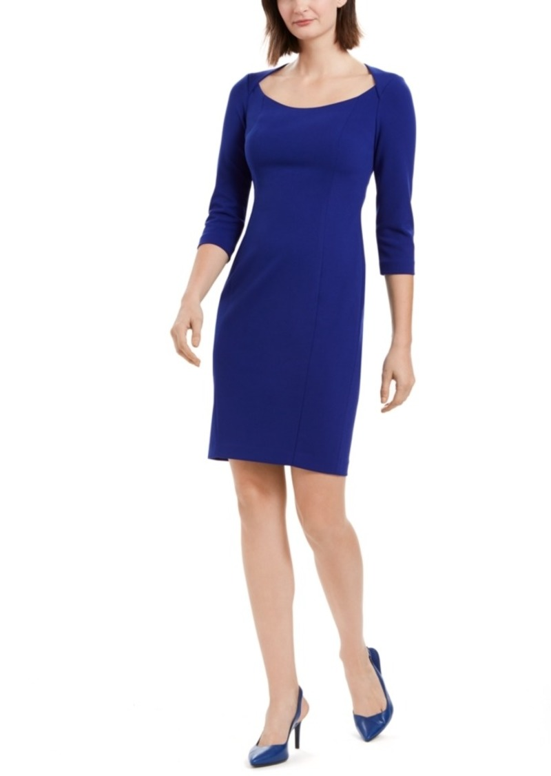 Calvin Klein U-Neck Sheath Dress
