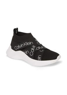 Calvin Klein Ulana Logo Sock Shaft Slip-On Sneaker (Women)