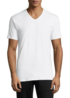 Calvin Klein 2-Pack Classic-Fit Cotton Stretch V-Neck Tees