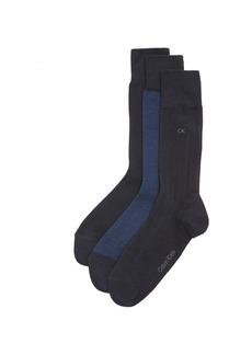 Calvin Klein Underwear 3 Pack Birdseye Multi Pack Crew Socks