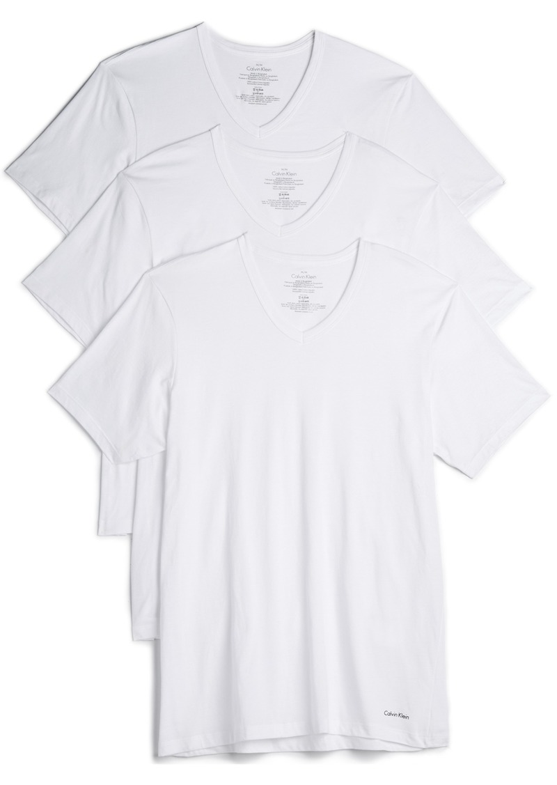 Calvin Klein Underwear 3 Pack Slim Fit Classic V-Neck Tee
