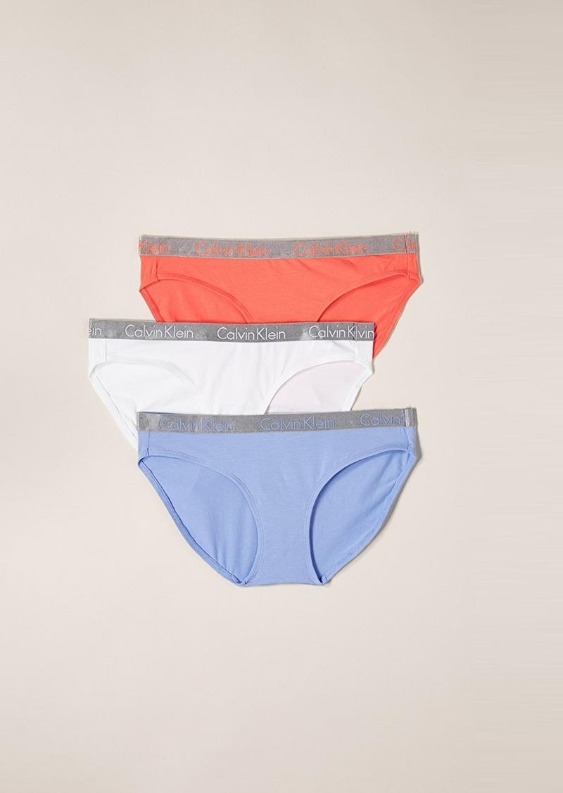 247697c5d27c5 Calvin Klein Calvin Klein Underwear 3 Pack Radiant Cotton Bikini ...