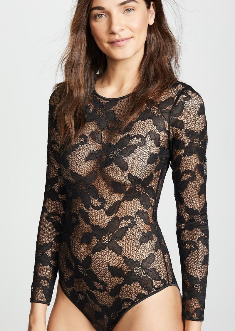 53d065d0957 Calvin Klein Calvin Klein Underwear CK Black Lily Lace Bodysuit ...