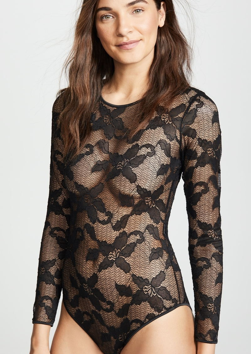 8e8a8d32f5c Calvin Klein Calvin Klein Underwear CK Black Lily Lace Bodysuit ...