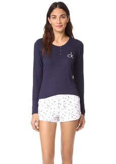 Calvin Klein Underwear Comfort Fleece Henley Set