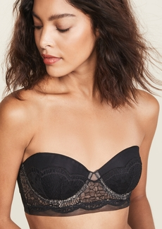 Calvin Klein Underwear Crackled Lace Lightly Lined Strapless Bra