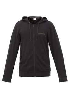 Calvin Klein Underwear Logo-print cotton-blend jersey hooded sweatshirt