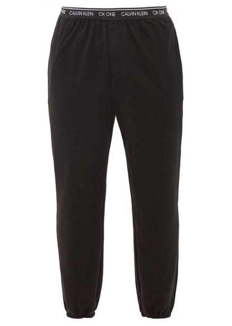 Calvin Klein Underwear Logo-waistband cotton-blend jersey pyjama trousers